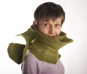 The infamous green scarf.