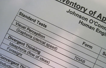 Johnson O'Connor test results