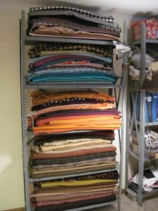 66 fabrics and a reel of rickrack