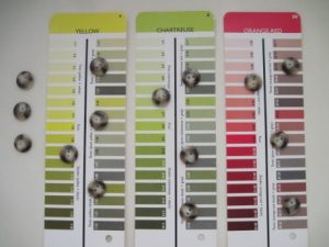 Chameleon-like buttons take on the attributes of the colors they're next to