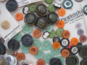 Some buttons being released back into the great sewing stream