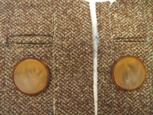 Bound buttonhole trial runs. The one on the right is better.