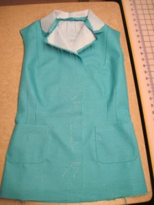 Patch pockets sewn to the fronts.