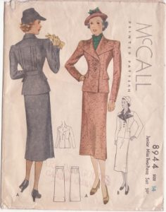 This 1936 pattern was our first project together.