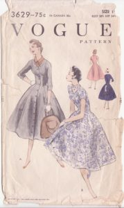I wanted to sew vintage patterns, like this dress from 1955.