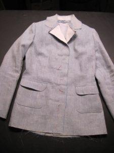 My 1930s jacket: moving along--slowly.