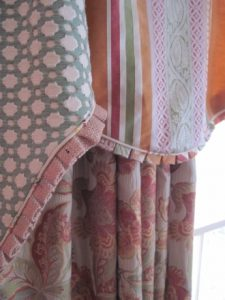 The draperies I sewed from Shelly's designs and hands-on instruction are exquisite and one-of-a-kind.