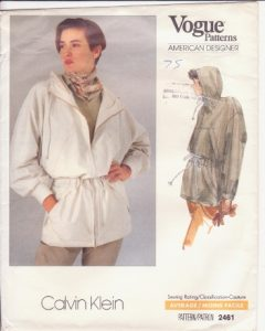 This Calvin Klein anorak, dating from 1990, is unlined and calls for the clean finish of flat felled seams.