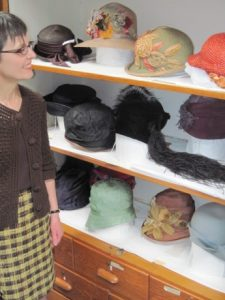 Jack caught me admiring some of the Goldstein's many hats.