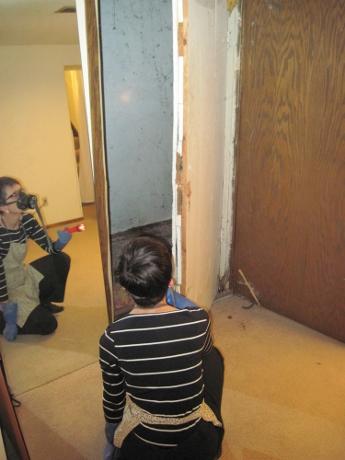 Ten weeks earlier, when we cracked open the two doors.