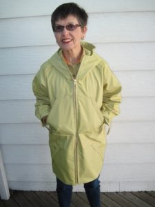 My anorak is nearing completion.