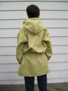 I think I could wear a backpack underneath this anorak.