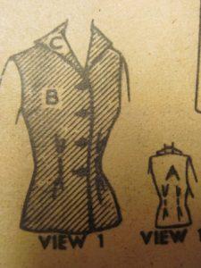 Advance pattern 5455, from 1950.