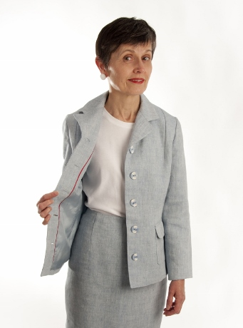 A 1930s jacket, paired with a contemporary skirt.