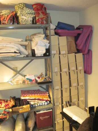 Boxes of old correspondence, and risers for my aerobic step were physical and mental clutter.