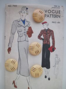 I think this is late 1930s. I would make this with fewer pocket flaps.