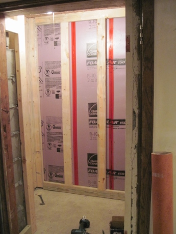 The storage space is being insulated, which will help the main space retain heat, too.