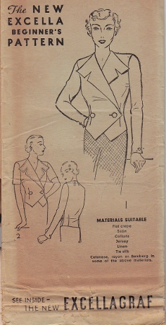 1930s. The importance of a jacket without all the work of tailoring. Interesting collar/lapels, and a chance to use vintage buttons.