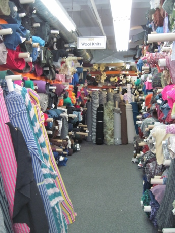 Mood Fabrics' wool knits aisle: possibly my next frontier.