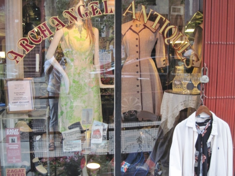 Archangel Antiques, in the East Village. That coat/dress circa 1950, is wonderful!