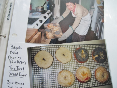 2002: Homemade bagels, fresh from the oven!