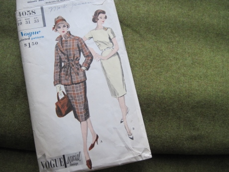 From 1959, a smart jacket for the moss-colored wool
