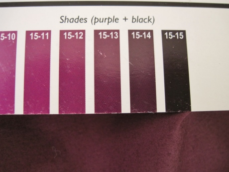Purple with black in it is just more interesting than black by itself.