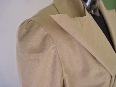 Reducing the ease in the sleeve cap will make a smooth, handsome shoulder line.