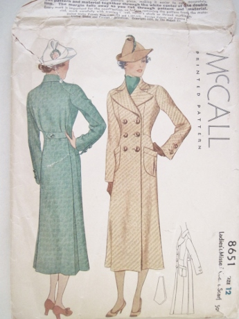 Here's another McCall coat, from 1936.