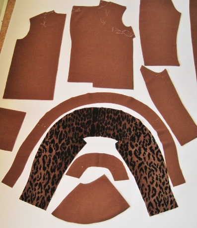 The handy dandy leopard collar jacket kit. Easy assembly!