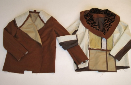 Two units are sewn together to make this jacket.