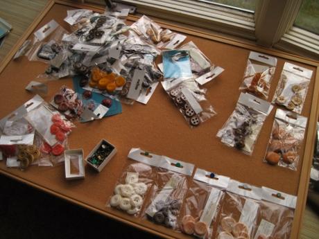 A bulletin board + tacks + bagged supplies = fun.