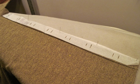 My template for placing thread markings for the buttonholes.