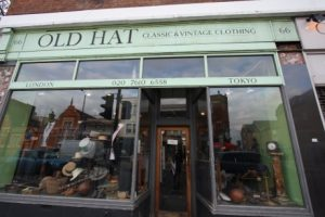 Well-tailored menswear can have a long life: a vintage menswear store called Old Hat.