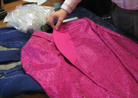A bespoke jacket bedecked with Swarovski crystals for Elton John