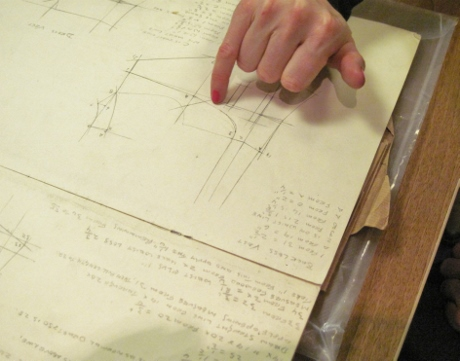 """From Christopher's notes: """"Sketch for a backless waistcoat."""""""