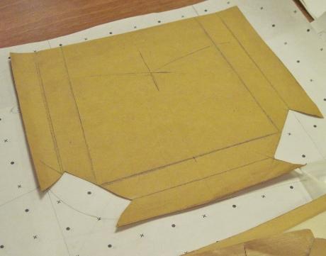 A bellows pocket pattern flat...