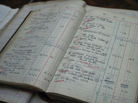 An old appointment book from the early 1960s.