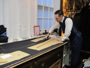 If I don't have one big space for all sewing functions, I could follow the example at London tailors Anderson & Sheppard: use a separate space. It works for them.