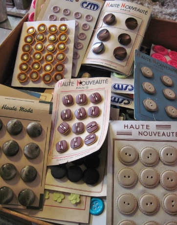 Drawer upon drawer of buttons on cards