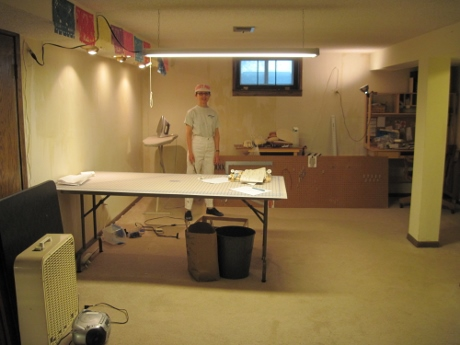 Last summer, getting ready to strip wallpaper and paint. If necessary, I'll do it again in our new home.