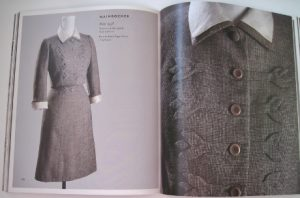 From Chic Chicago, a suit by Mainbocher from 1958.