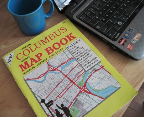 The Columbus map book is my new companion.