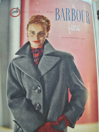 A big, boxy coat of the late '40s.