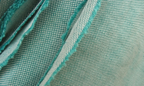 More Italian linen-rayon, in greenish blue for summer.