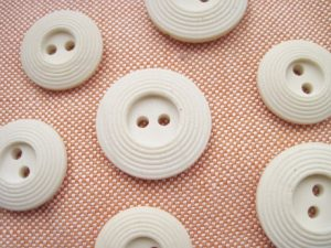 These buttons, from a Spitalfields vintage fair in London, work nicely with this Italian linen-rayon.