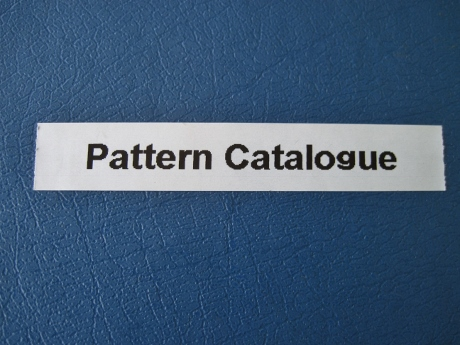 After the edit I arranged my pattern catalogue differently. That was not part of the original plan.