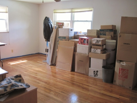 All our possessions arrived safe and sound, including my fabrics, which had been in the garage for 3 months.