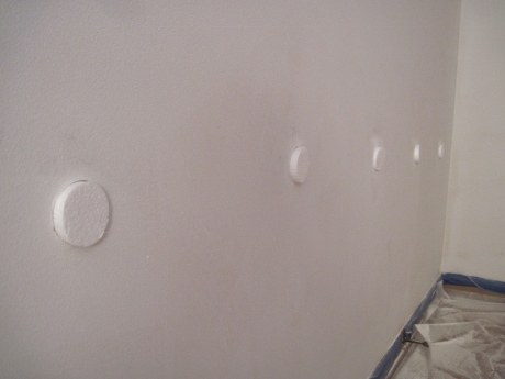 All the filled holes had to be sanded and primed. Lots of fun!