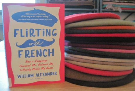William Alexander's new book poses with my 17 berets.